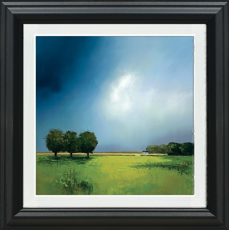 Green Fields of Home by Barry Hilton - Hand Finished Canvas on Board sized 18x18 inches. Available from Whitewall Galleries